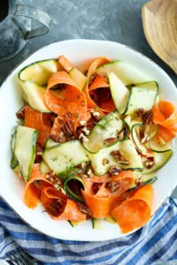 Shaved Vegetable Salad with a Tangy Dill Dressing