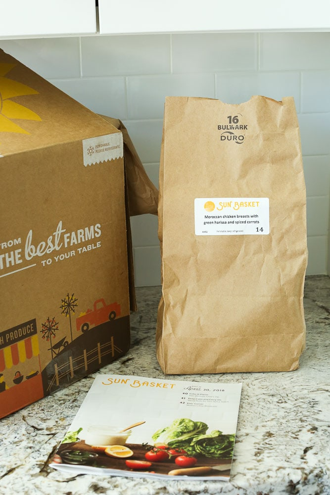 Sun Basket Review Healthy Meal Kit service packaging