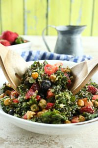 Massaged Kale and Chard Antioxidant Salad (Vegan)