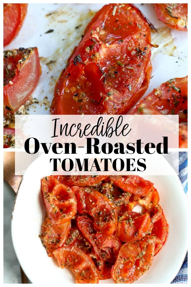 Oven Roasted Tomatoes Recipe #ovenroasted #tomatoes #recipes #healthyrecipes #vegan #glutenfree #3ingredients #soup #pasta #easy