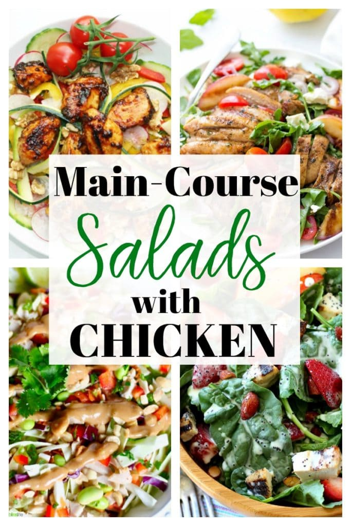 Salad Recipes with Chicken #maindish #cleaneating #easymeals #homemade #healthy #lowcarb #cheese