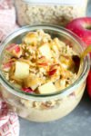 Apple Peanut Butter Overnight Oats REcipe