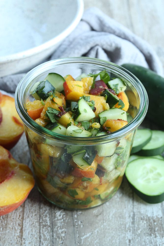 Cucumber Peach Salsa Recipe