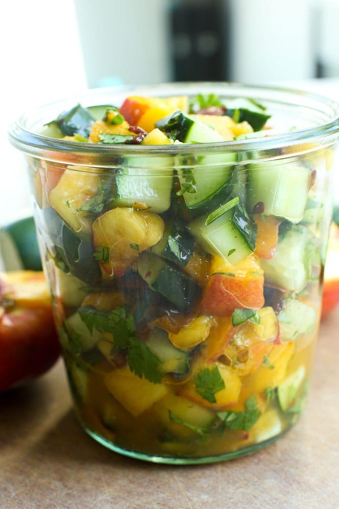Cucumber Peach Salsa recipe healthy easy good
