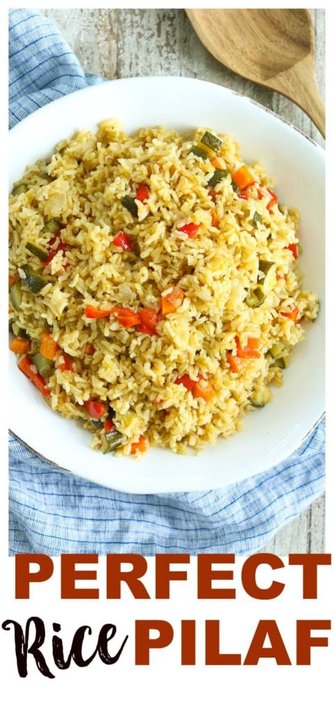 This is the Perfect Rice Pilaf recipe! #sidedish #recipes #healthy #easy #weeknight #dinner #ideas #family #rice #brownrice #vegetables
