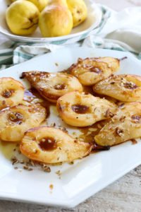 Simple Baked Pears with Maple Syrup