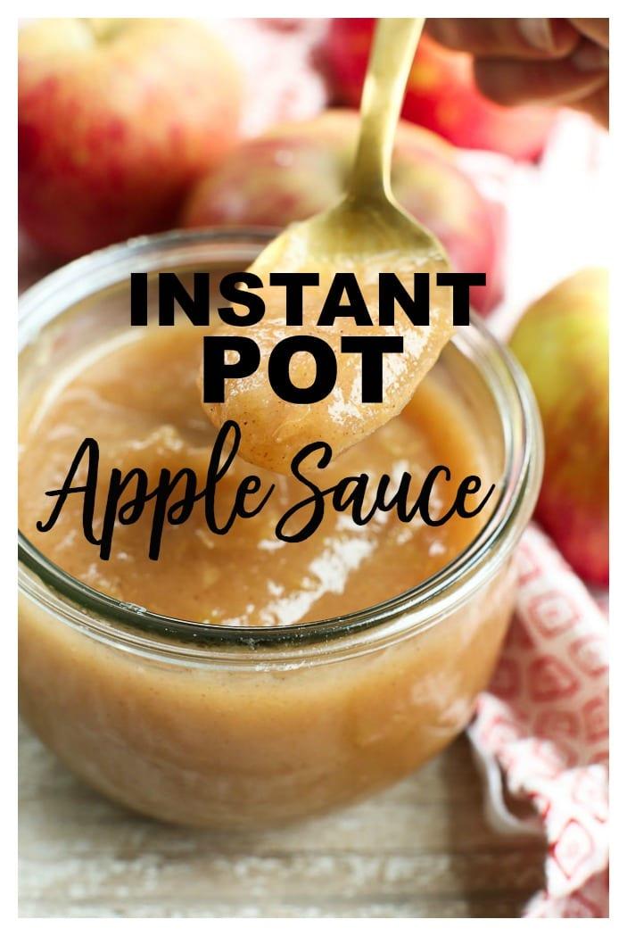Easy and delicious! Instant Pot Apple Sauce Recipe #noaddedsugar #healthy #applesauce #apples #recipes #kids #toddler #homemade #instantpot
