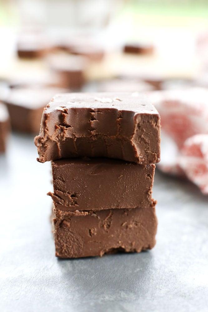 Easy Chocolate Fudge Recipe that is vegan