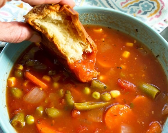 15-Minute Vegetable Soup Recipe
