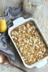 Baked Oatmeal with Pears recipe easy healthy and delicious
