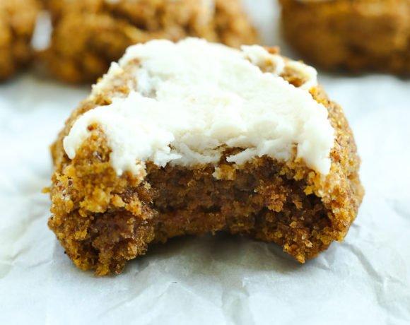 Healthy Pumpkin Cookies (Vegan, Gluten Free, Low Sugar)