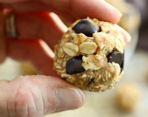 Peanut Butter chocolate Chip energy balls recipe