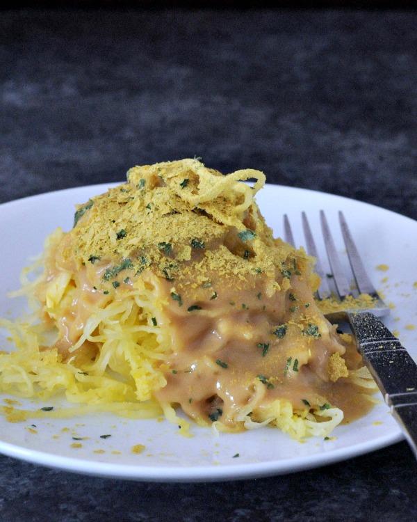spaghetti squash recipes : Protein Rich Chipotle Alfredo Spaghetti Squash