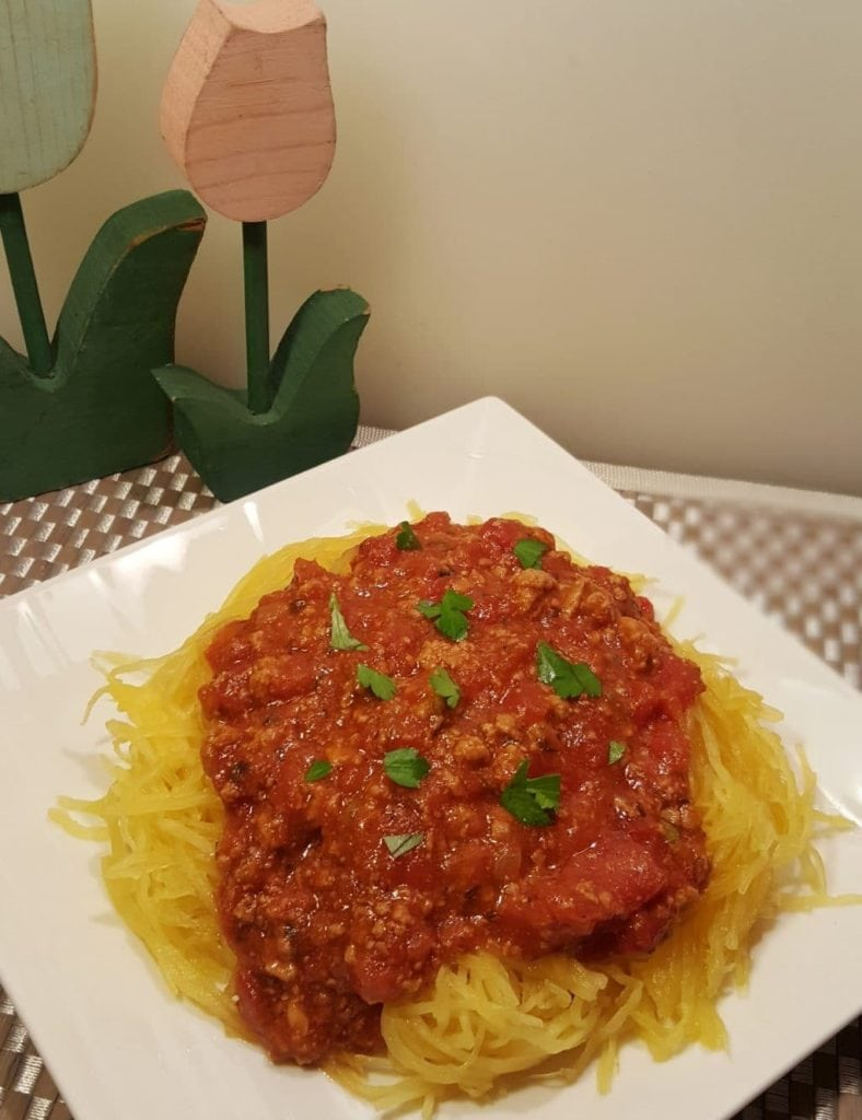 spaghetti squash recipes : instant pot meat sauce