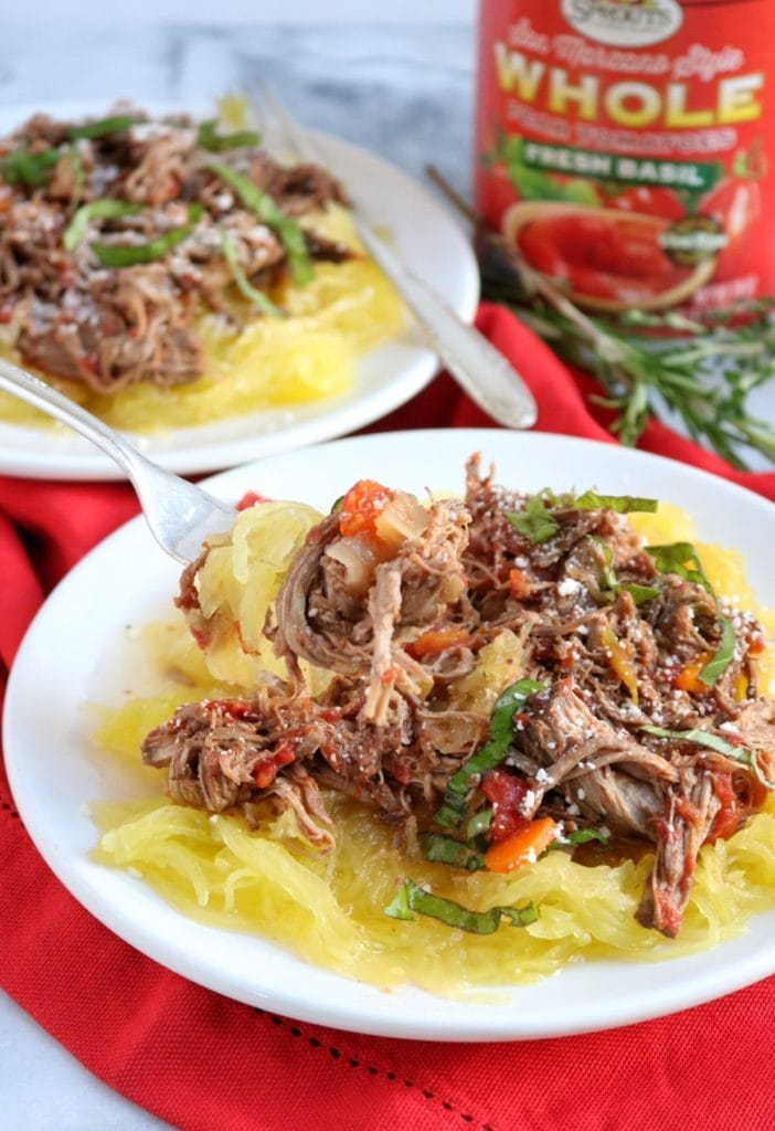 Spaghetti Squash Recipes: Beef Ragu over spaghetti Squash