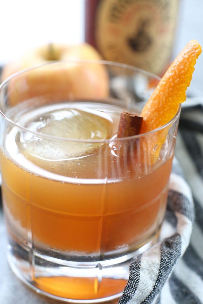 Apple Cider Old Fashioned Cocktail
