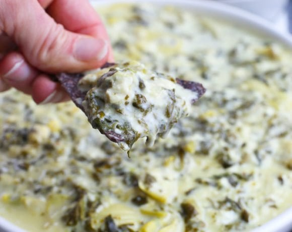 Instant Pot Spinach Artichoke Dip