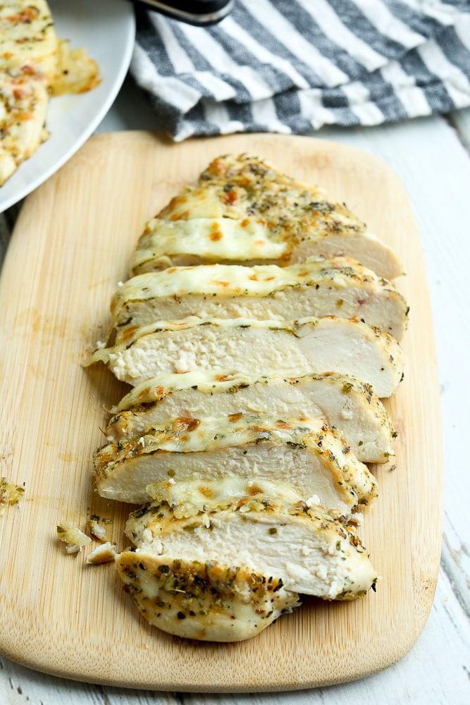 Italian Baked Chicken Breast recipe (sliced)