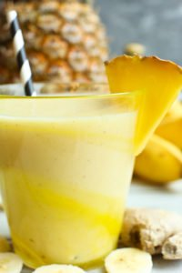 Pineapple Smoothie recipe with banana and ginger