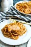 Salmon Pasta with sun dried tomato pesto