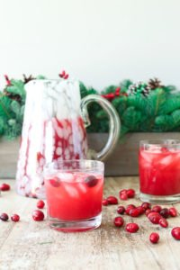 Skinny Cranberry Vodka Christmas Punch