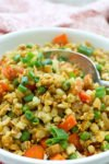 Cauliflower Fried Rice recipe easy low carb keto