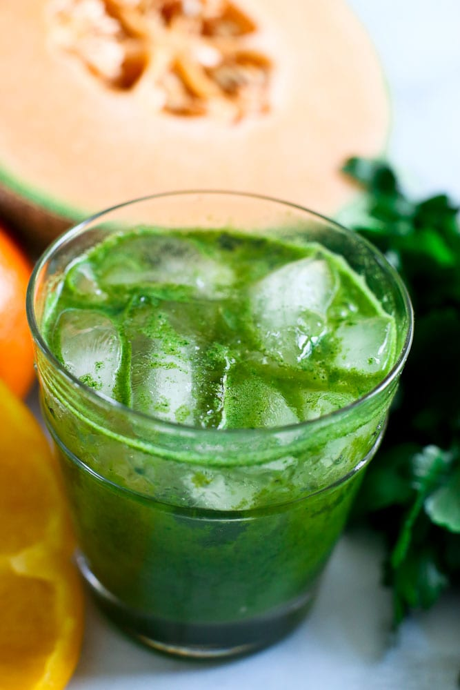 Vitamin C Juice with fresh foods