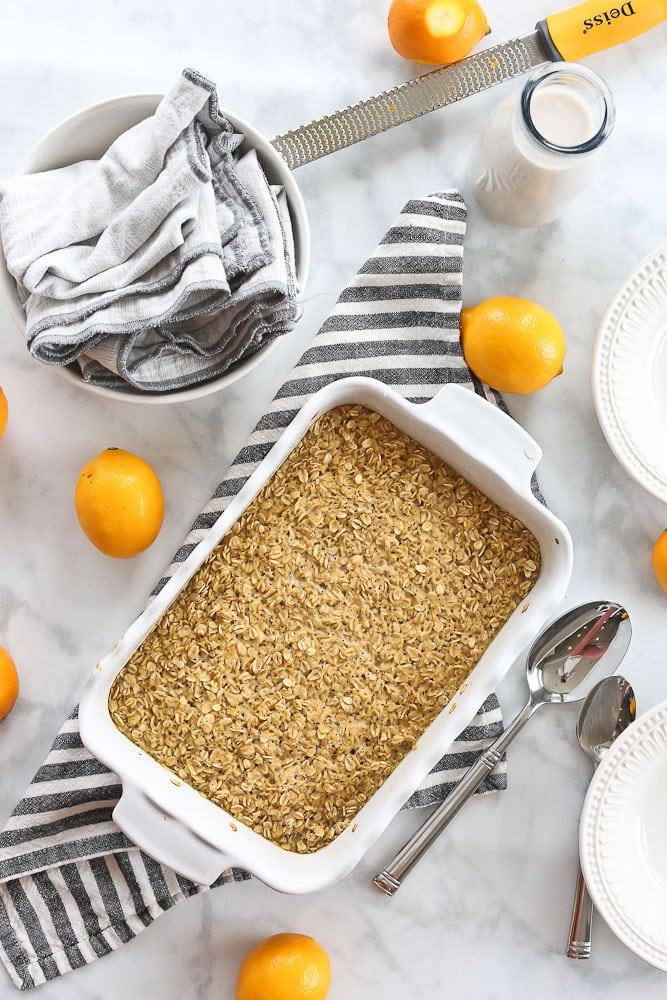 Lemon Poppyseed Baked Oatmeal Recipe