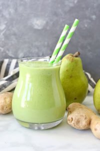 Pear Ginger Smoothie REcipe anti-inflammatory drinks for health