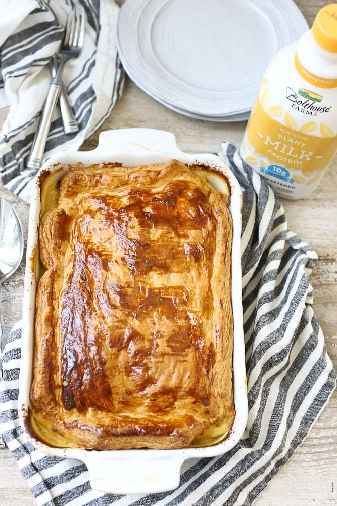 Dairy-free Chicken Pot Pie with Bolthouse Farms Plant Protein Milk