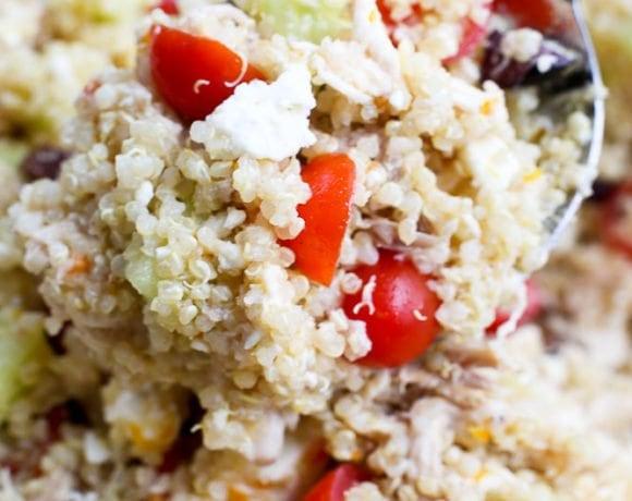 mediterranean Quinoa Salad with Chicken and citrus vinaigrette