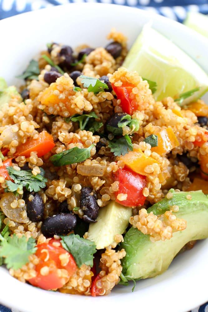 Mexican Quinoa Skillet Dinner recipe vegan or gluten-free