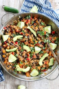 Mexican Quinoa Skillet Dinner recipe vegan and gluten free