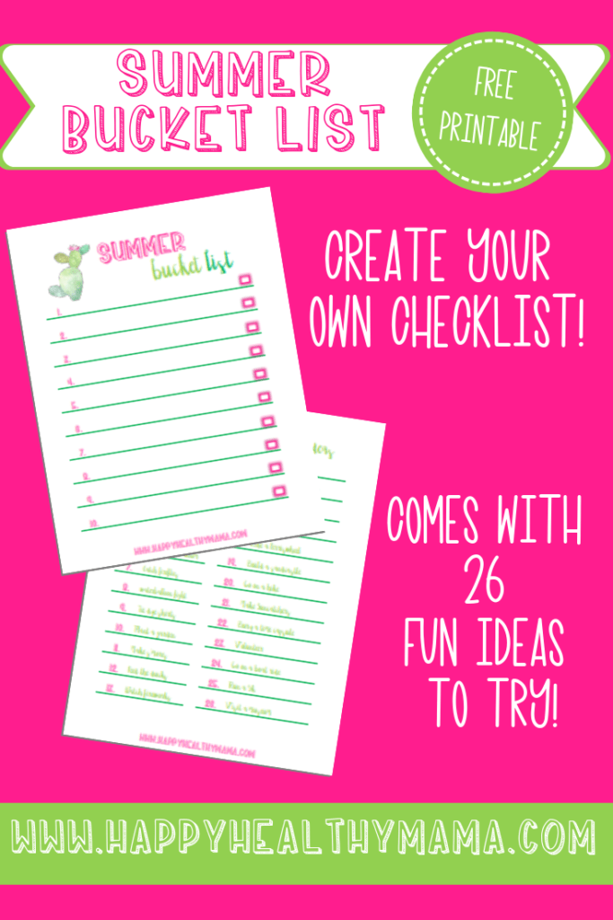 photo relating to Bucket List Printable referred to as Generate Your Summer season Bucket Record (Absolutely free Printable!) - Satisfied