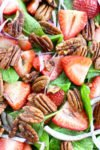 Strawberry Spinach Salad with pecans and balsamic dressing