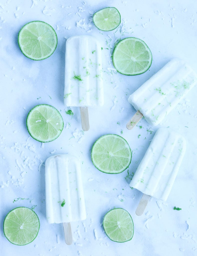 Coconut Lime Protein Popsicles