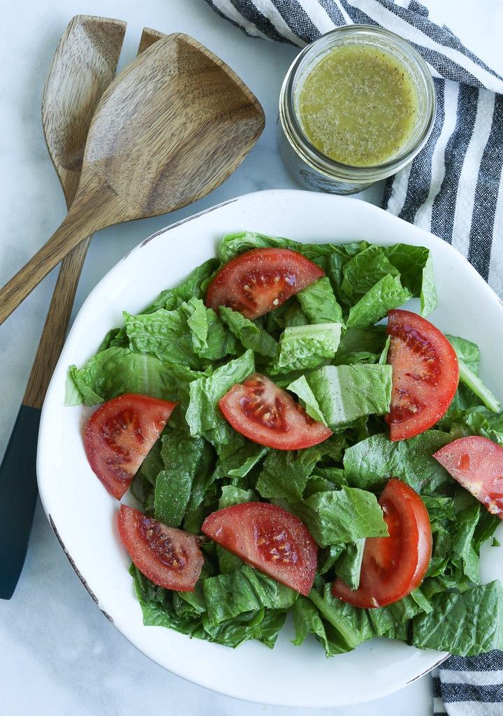 Homemade Italian Dressing recipe with salad