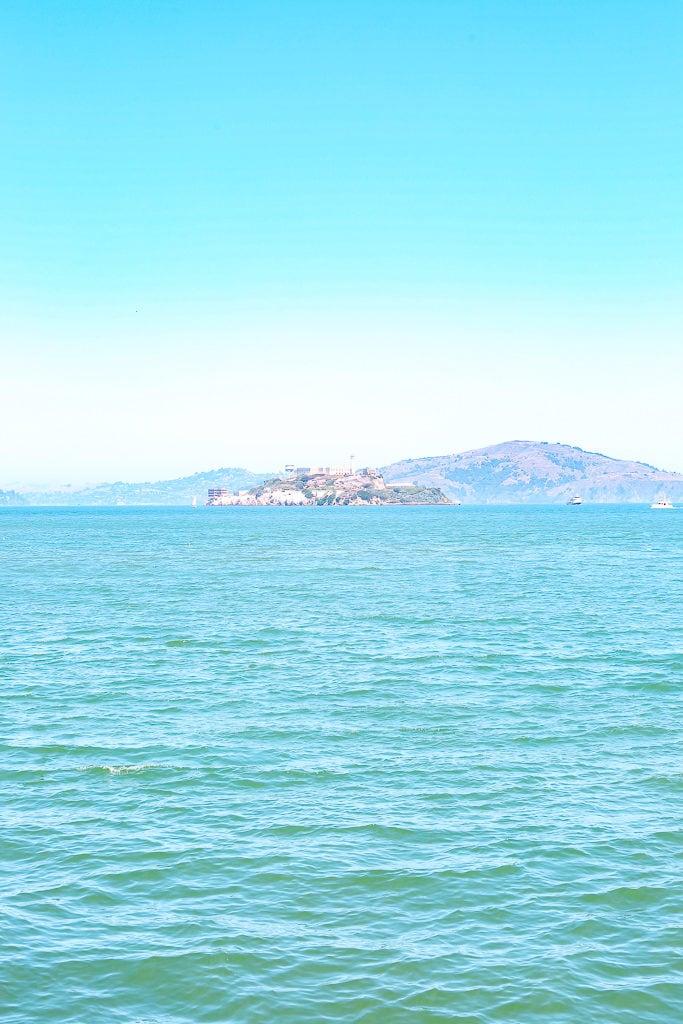 views of alcatraz from Fisherman's Wharf