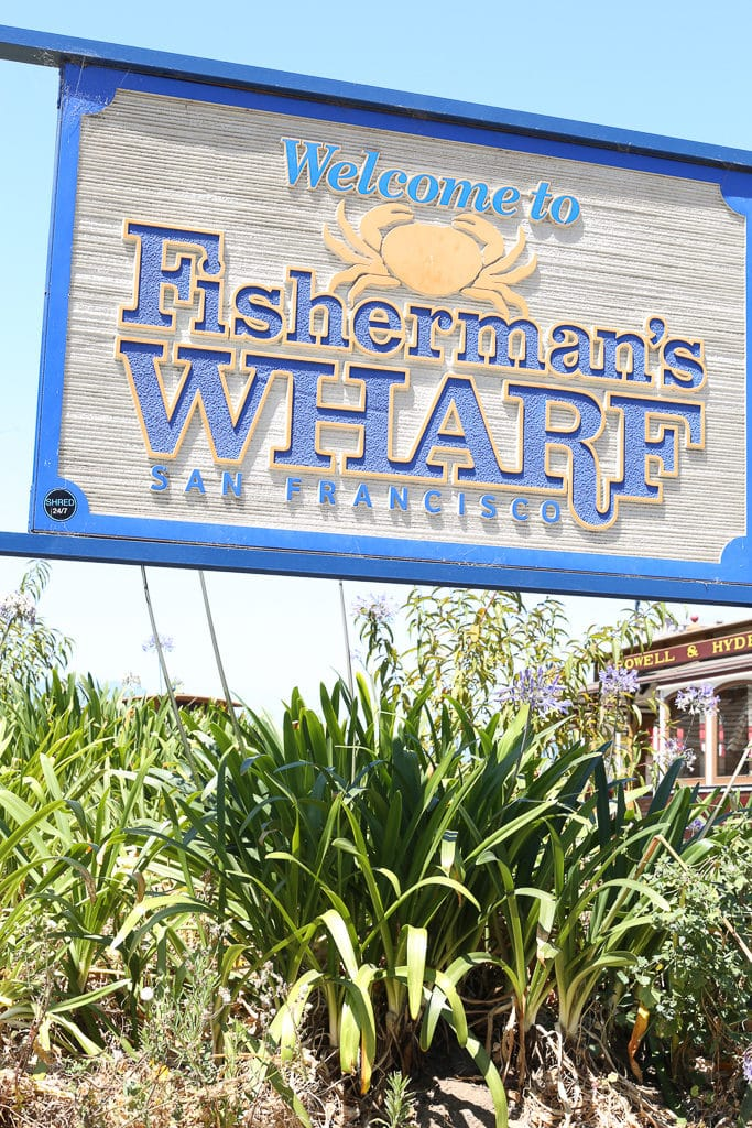 Fisherman's Wharf sign in San Fransisco