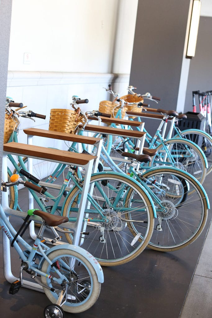 Bikes for use at Hotel Zoe San Fransisco