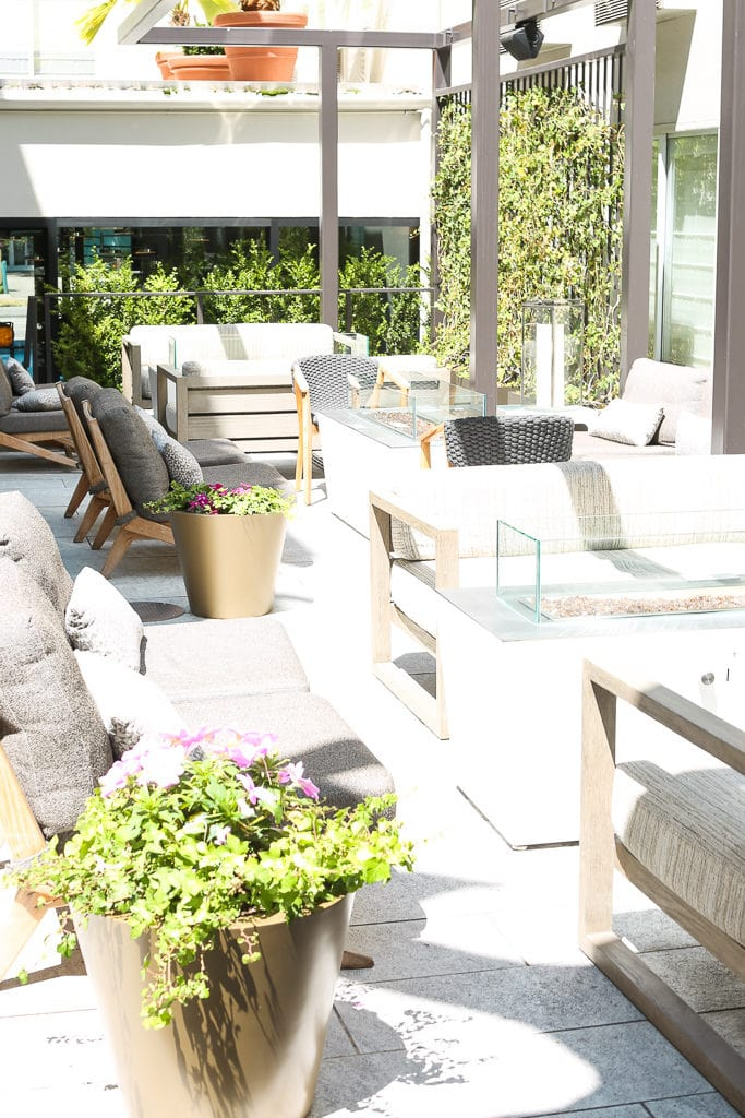 outdoor space at Hotel Zoe San Fransisco