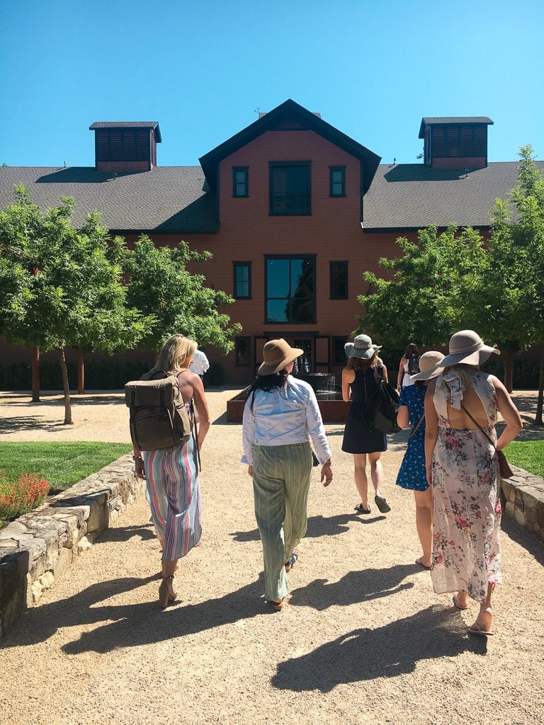 wine tour walking in