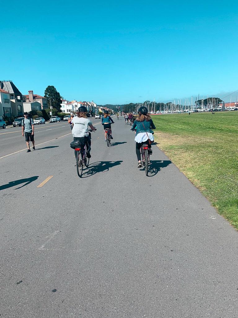 riding bikes in San Fransisco
