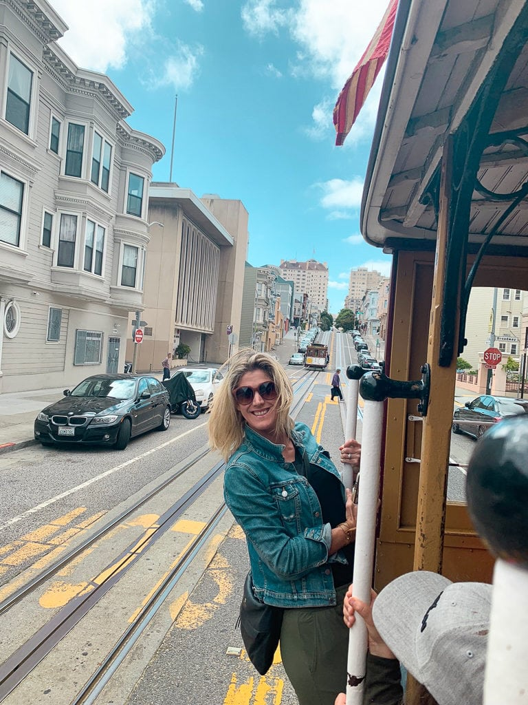 Riding the Cable cars in San Fransisco