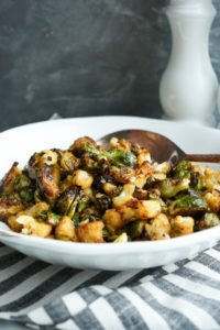 Sweet and Spicy Brussels Sprouts and Cauliflower recipe